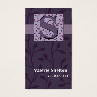 TBA Trendy Damask Bud Vines Business Card