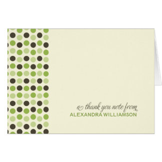{TBA} Trendy Polka Dots Thank-You Card (apple)