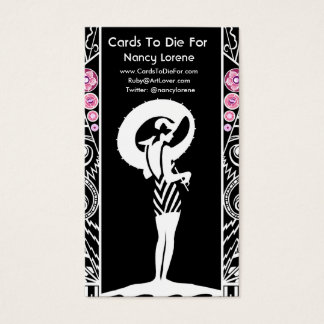 {TBA Winner} Seaside Deco in Black and Pink Business Card