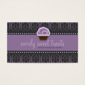 TBA WINNER-SWIRLY SWEET Purple Business Card