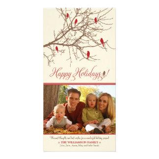 {TBA} Winter Birds Happy Holidays Photo Card
