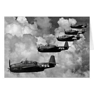 TBF Avenger Torpedo Bombers Card
