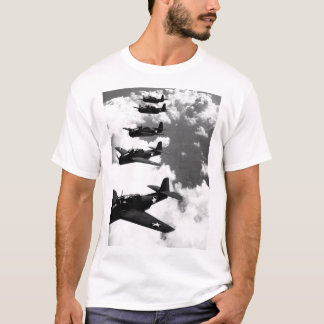 TBF (Avengers) flying in formation_War image T-Shirt
