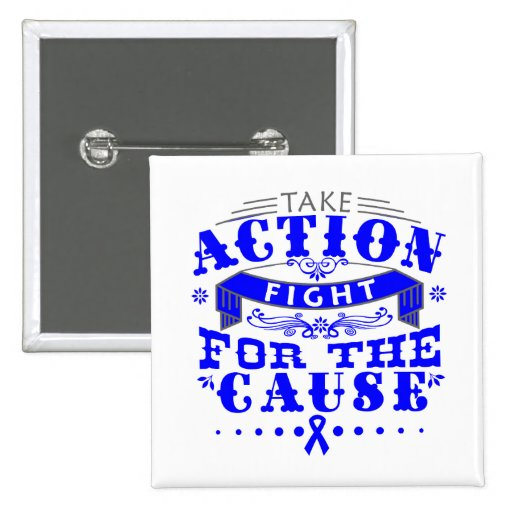 TBI Take Action Fight For The Cause Pin