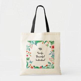 TBI Terrific Beautiful Individual Floral Tote Bag