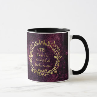 TBI Terrific Beautiful Individual Gold on Purple Mug