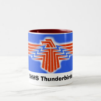 TBird, SHHS Thunderbirds Two-Tone Coffee Mug