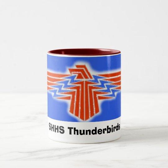 TBird, SHHS Thunderbirds Two-Tone Coffee Mug