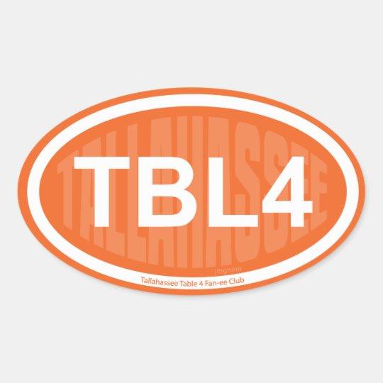 TBL4 OVAL STICKER
