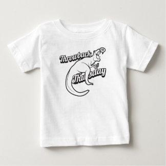 TBT Throwback Thursday Dinosaur Selfie Funny Tweet Baby T-Shirt