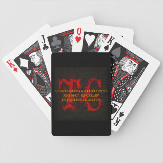 TC UDERGROUND DISC GOLF REBELLION BICYCLE PLAYING CARDS
