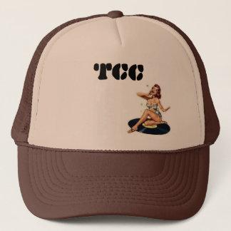 TCC pin-up on vinyl Trucker Hat