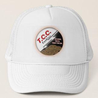 TCC Round Logo Hat, White Trucker Hat