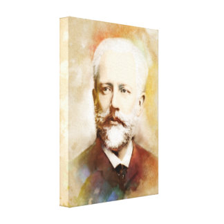 Tchaikovsky on Canvas - Watercolor Style