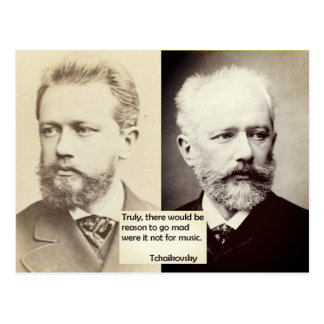 Tchaikovsky Postcard Reason to go mad music