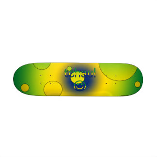 Tchau Brazil Flag Colors Pop Art Skate Board Deck