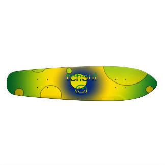Tchau Brazil Flag Colors Pop Art Skateboard