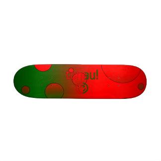 Tchau Portugal Flag Colors Pop Art Custom Skate Board