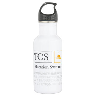 TCS Typography White Water Bottle