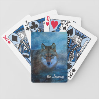TCWC - Blue Wolf Christmas Bicycle Playing Cards