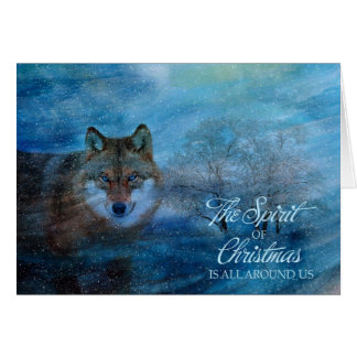 TCWC - Blue Wolf Christmas Card