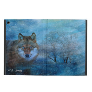 TCWC - Blue Wolf Christmas Cover For iPad Air