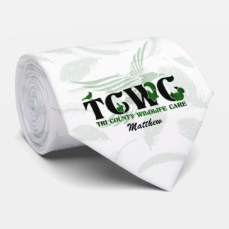 TCWC Logo   Green Custom Necktie