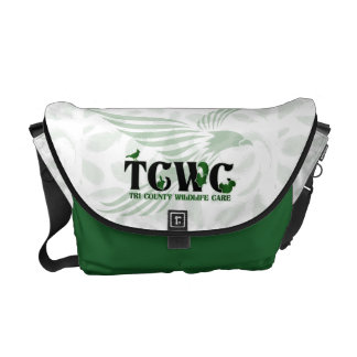 TCWC - Logo Green | Monogrammed Bag Courier Bag