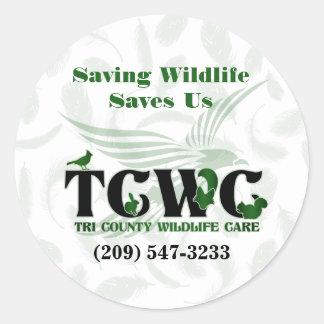 TCWC - Logo Saving Wildlife Saves Us Stickers