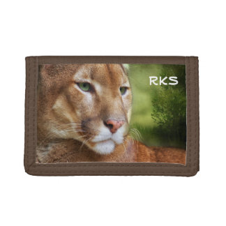 TCWC - Puma Mountain Lion Art Tri-fold Wallets