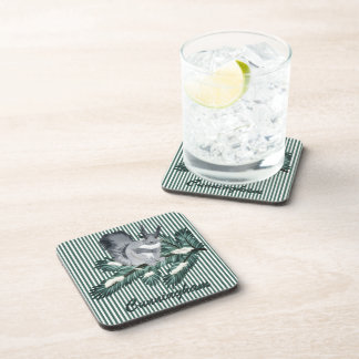 TCWC   Winter Squirrel on a Pine Branch Drink Coasters