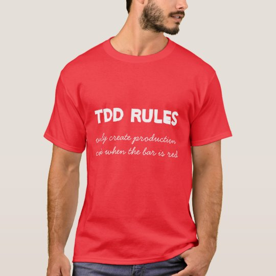 TDD Rules - Red T-Shirt