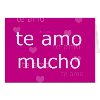 Te Amo, card