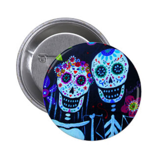 Te amo Dia de los Muertos Wedding 2 Inch Round Button