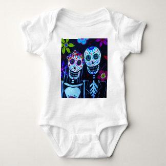 Te amo Dia de los Muertos Wedding Baby Bodysuit