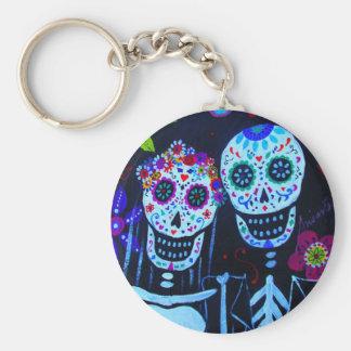 Te amo Dia de los Muertos Wedding Basic Round Button Keychain