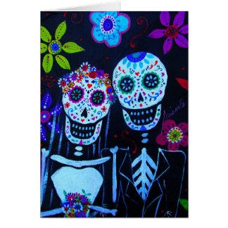 Te amo Dia de los Muertos Wedding Card