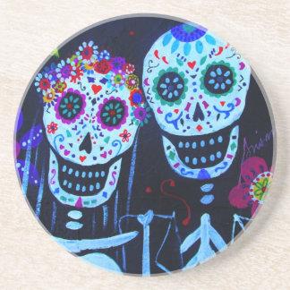Te amo Dia de los Muertos Wedding Coaster