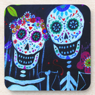 Te amo Dia de los Muertos Wedding Drink Coasters