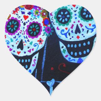 Te amo Dia de los Muertos Wedding Heart Sticker