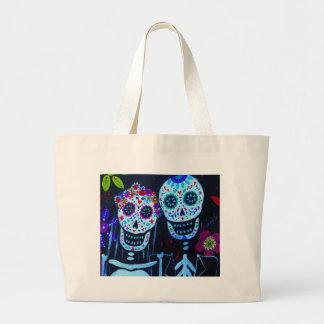 Te amo Dia de los Muertos Wedding Large Tote Bag