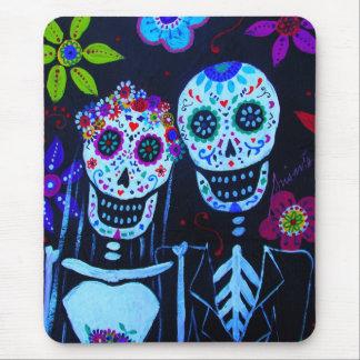 Te amo Dia de los Muertos Wedding Mouse Pad