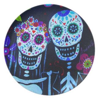 Te amo Dia de los Muertos Wedding Plate