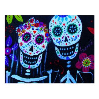 Te amo Dia de los Muertos Wedding Postcard