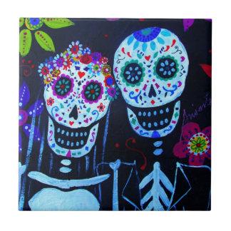 Te amo Dia de los Muertos Wedding Tiles