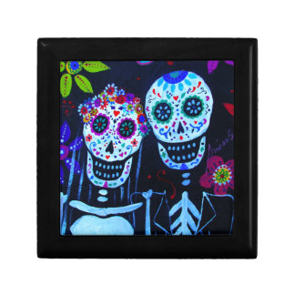 Te amo Dia de los Muertos Wedding Trinket Box