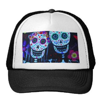Te amo Dia de los Muertos Wedding Trucker Hat