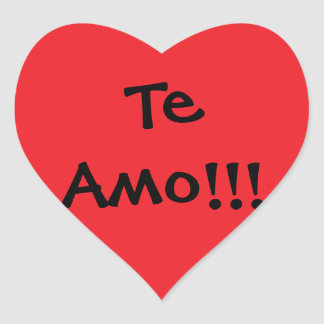 te amo!! heart sticker