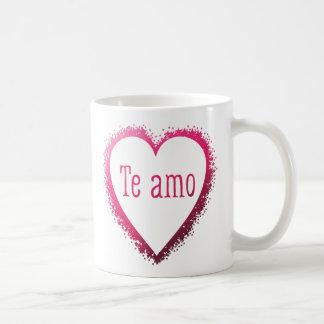 Te amo, I love you in Spanish in pink Coffee Mug