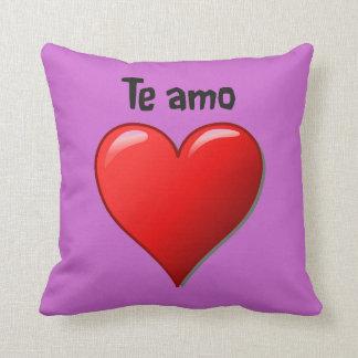 Te amo - I love you in Spanish Throw Pillow